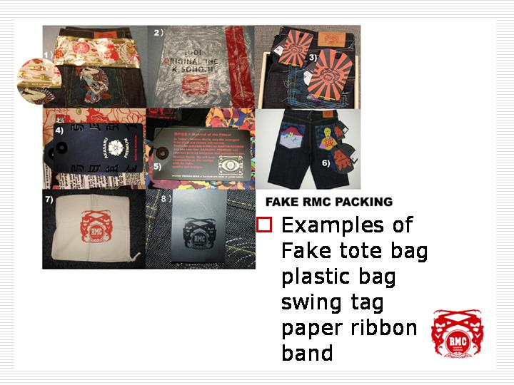 Examples of fakes