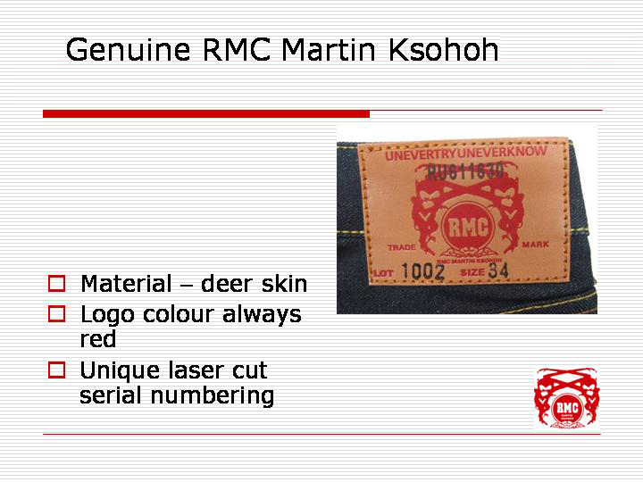 Real leather patch - RMC logo red