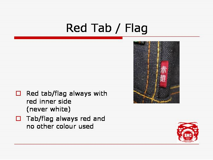 Red tab is always red on outside as well as inside
